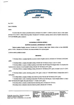Poziv za redovnu skupštinu akcionara za 29.06.2016