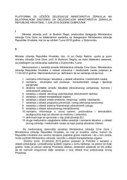platforma za učešće delegacije ministarstva