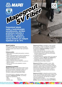 Mapegrout SV Fiber Mapegrout SV Fiber