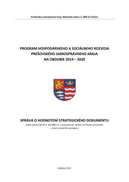 Správa o hodnotení PHSR