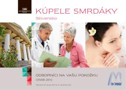 Kupele Smrdaky-Cennik 2016