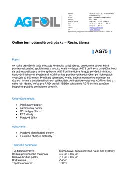 AG75 - AG FOIL sro