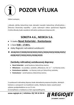 POZOR VÝLUKA - Obec Rovinka