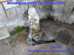 Minerálne vody na Slovensku