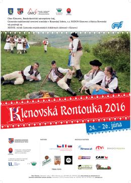 Plagat2016-1 - Klenovská Rontouka