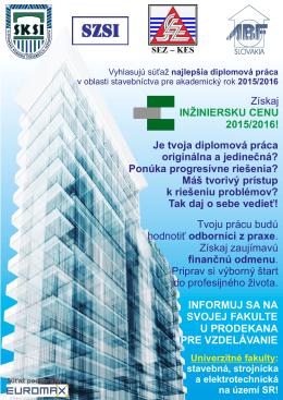 Inžinierska cena 2015-2016
