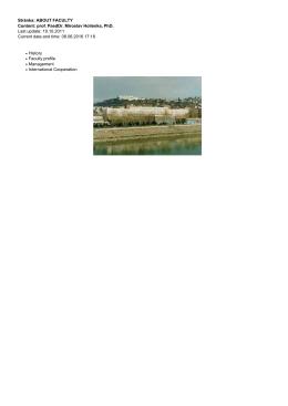 Stránka: ABOUT FACULTY Content: prof. PaedDr. Miroslav