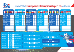 watch the European Championship 2016 with us
