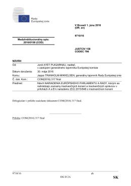 9710/16 ah DG D 2A Delegáciám v prílohe zasielame dokument
