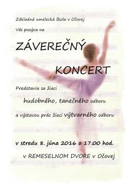 Záverečný koncert 8. 6