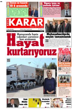 31 Mayis 2016_Kesin Karar Gazetesi