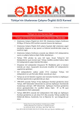 Türkiye`nin İLO Karnesi