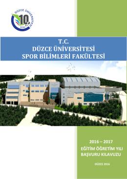 Yönerge Değişikliği - Düzce Üniversitesi Spor Bilimleri Fakültesi