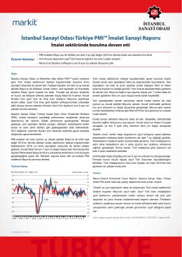 İstanbul Sanayi Odası Türkiye PMI İmalat Sanayi Raporu (Mayıs 2016)