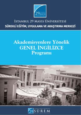 Akademisyenlere ingilizce.indd - İstanbul 29 Mayıs Üniversitesi