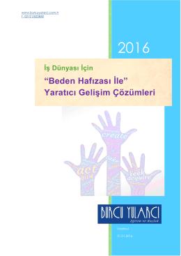 Kurumsal Tanıtım 2016 - Burcu Yularcı Eğitim ve Koçluk
