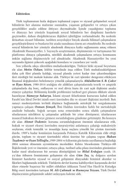 Bu PDF dosyasını indir - Akademik Hassasiyetler