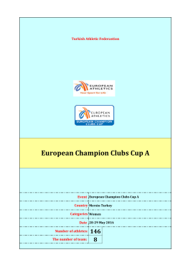 women results - first day - European Champion Clubs Cup