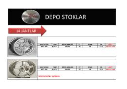DEPO STOK - Srdotomotiv.com