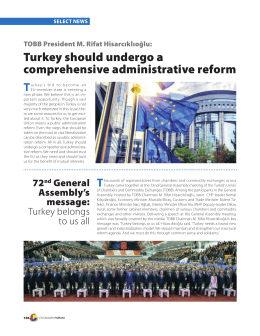 Turkey should undergo a comprehensive administrative reform