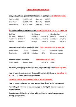 Sevil Zehra Hanım Apartmanları Teklif Bilgileri 19.05.2016 192 KB