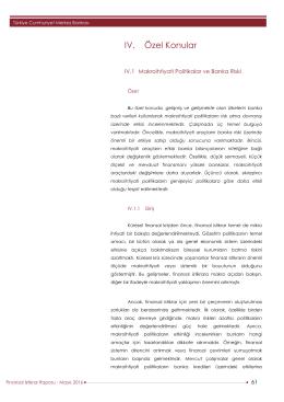 IV. Özel Konular