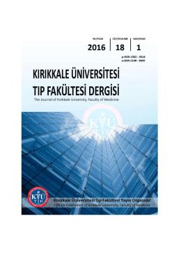 İndeks - Kırıkkale Üniversitesi Tıp Fakültesi