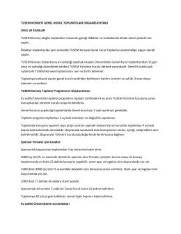 tusem konsey toplantıları düzenleme kuralları