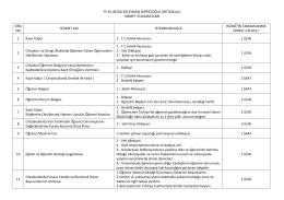 75.yıl bedia süleyman serpicioğlu ortaokulu hizmet standartları sıra