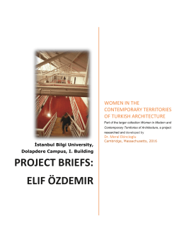 Project Briefs: elif ÖZDEMIR