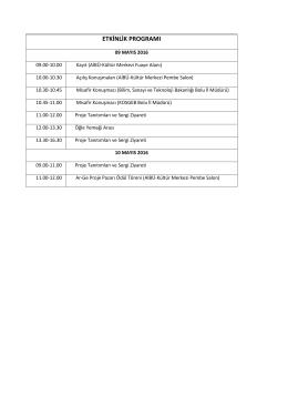 ar-ge proje pazarı-etkinlik programı
