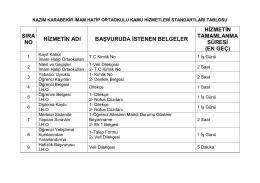 kazım karabekir imam hatip ortaokulu kamu hizmetleri standartları