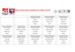 mega hafıza koleji haziran ayı yemek listesi