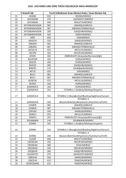 2016 - dgs adres iline göre tercih edilebilecek sınav merkezleri 01