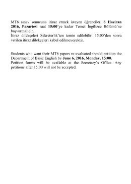 MT4 sınav sonucuna itiraz etmek isteyen öğrenciler, 9 Haziran 2014