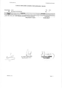 tablo 1.6 bütçe giderlerinin kurumsal sınıflandırılması tablosu