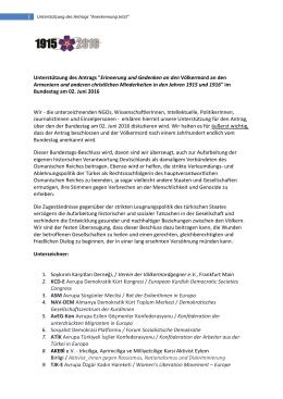 Unterstützung des Antrags - Deutsch