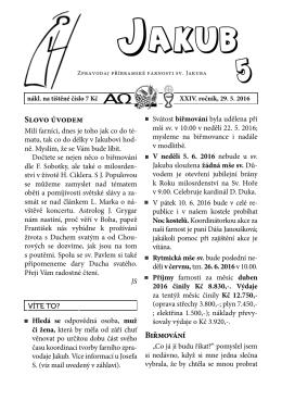 aktuální číslo 5/16 - Římskokatolická farnost sv. Jakuba v Příbrami