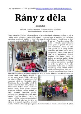 květen 2016 - Oblastní charita Rokycany