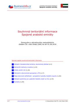 Souhrnná teritoriální informace Spojené arabské