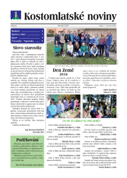 Kostomlatské noviny - Kostomlaty nad Labem
