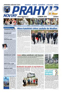 nové číslo Novin Prahy 12