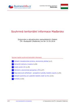Souhrnná teritoriální informace Maďarsko