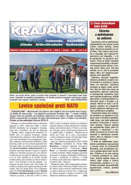 Krajánek 06 / 2016 - KV KSČM Hradec Králové