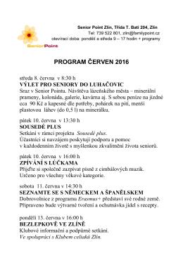program červen 2016 - Turistický informační portál města Zlína