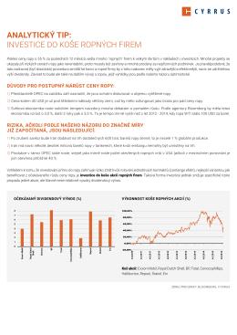 analytický tip: investice do koše ropných firem