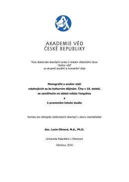 Teze - Akademie věd České republiky