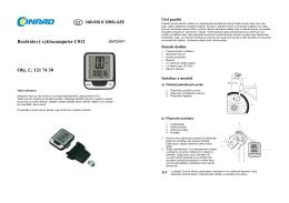 překlad 1217430 - cyklocomputer