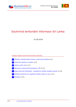 Souhrnná teritoriální informace Srí Lanka