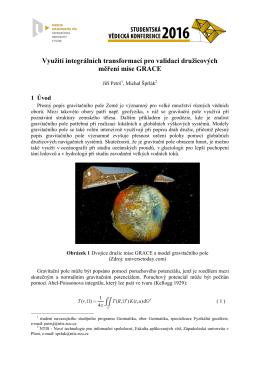 Využití integrálních transformací pro validaci družicových měření